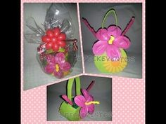 Flor fantasia de globos / Fantasy Flower Balloons - tutorial step by step