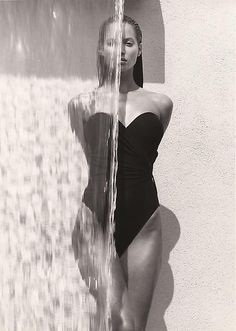 Christy Waterfall by Herb Ritts, Los Angeles, 1988