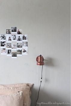 Bedroom - Copper lamp and photo montage - Hajottamo - Via My Second Hand Life