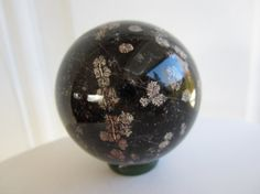 Rare Starry Night Obsidian Carved Crystal Sphere