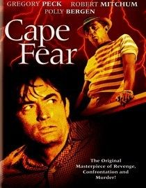 Cape Fear (1962) Thriller Stars: Gregory Peck, Robert Mitchum, Polly Bergen,Lori Martin. A lawyer's family is stalked by a man he once helped put in jail.  I like this Cape Fear better than the second remake. The second one in 1991 was much more  violent.