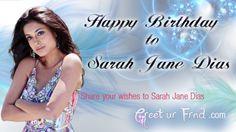 Happy Birthday Sarah-Jane Dias