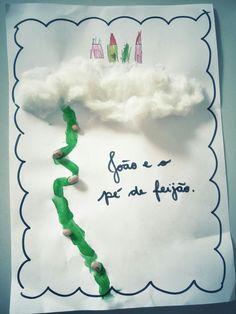 João e o pé de feijão - Atividade realizada por um aluno de 5 anos do primeiro período da educação infantil.