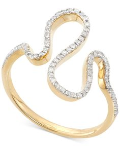 Wrapped in Love Diamond Squiggle Ring (1/5 ct. t.w.) in 10K Gold
