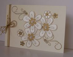 IC268 Bloomin' Gold ... gold embossed and layered   Stampin Up - Friendship Blooms