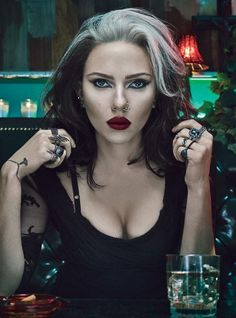 Scarlett Johansson W Magazine november 2012 THIS IS WHAT I PICTURE ROGUE LOOKING LIKE!