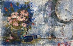 """20 / ARON TUNZI, """"Armonia temporale"""", 2018, acrilico su carta, 30 x 20 cm."""