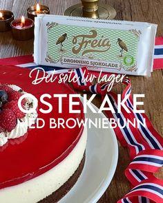 Ostekake i rødt, hvitt og blått | Det søte liv Rice Krispies, Food And Drink, Baking, Cake, Desserts, Recipes, Tailgate Desserts, Deserts, Bakken