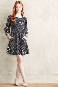 Daisy Dot Dress #anthropologie