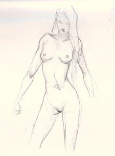 draw female figure study How to draw woman body basic