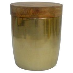 Threshold™ Gold Storage Drum Accent Table  Not quite as vibrant as the ones I saw in the store, but it does have storage, which makes it useful