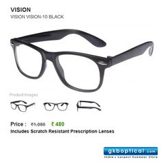 Season's hottest trend 'wayfarers' spectacles for Just Rs 480!  http://www.gkboptical.com/vision-10-frame-bl-gs73bl48