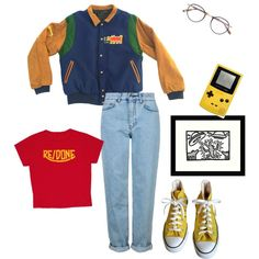Keith Harring by sungoessdown on Polyvore featuring polyvore, Topshop, Converse, Garrett Leight, Amanti Art, fashion, style and clothing