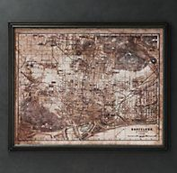 Circa 1913 Barcelona Map | Maps | Restoration Hardware