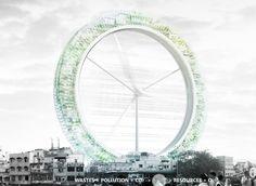 LO2P Recycling Skyscraper--Atelier CMJN (Julien Combes, Gaël Brulé)--New Delhi, India