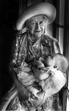 The Queen Mother with a great-grandchild