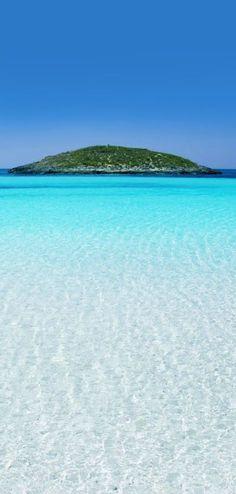 Espectacular las aguas cristalinas de la isla de Formentera.