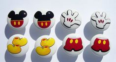 8 Mickey Mouse Pants shoes ears gloves Dresser by PATRINASPLACE