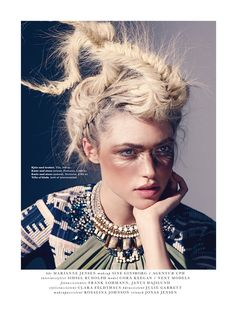 visual optimism; fashion editorials, shows, campaigns & more!: nord for afrika: cora keegan by jonas jensen for elle denmark may 2014