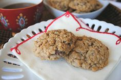Oatmeal Raisinet Cookies - Shugary Sweets
