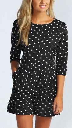 Polka dot jumper. love, love, love!