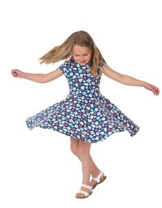 This gorgeous short sleeved Frugi Spring skater dress has an incredible full skirt that is great for twirling around-and-around-and-around in! Made from scrumpt Skater Dress, Children, Kids, Summer Dresses, Spring, Womens Fashion, Collection, Young Children, Young Children