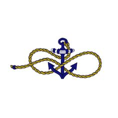 NAUTICAL Anchor Ropes Sailing Marine Seaside by zebrakingstitches