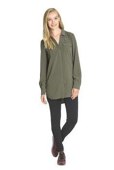 4cae3ed7462 Long Tall Sally - Two Pocket Longline Shirt