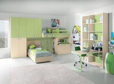 Italian design kids bedroom. I really, really like this one.