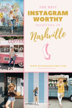 What trip to Nashville, Tennessee would be complete without checking out some of these Instagram worthy spots? I have all the best places Nashville has to offer! Be sure to check back often because I'll update the list whenever I find a new spot! #instagramworthyspots #nashvilletravel #nashvilletravelguide #thingstodonashville #thingstodo
