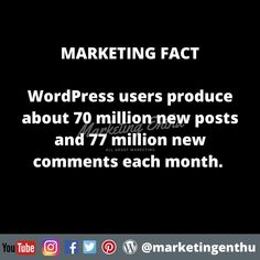 Content Marketing, Digital Marketing, Statistics, Blogging, The Creator, Wordpress, Platform, Facts, News
