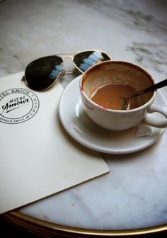 Latte, lipstick and sunnies