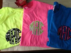 Girls Monogram T Shirts Applique Monogram by EmbroideryK on Etsy, $23.00