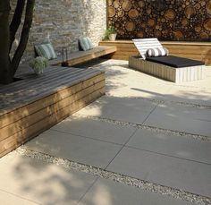Senzo plaster for garden and house: - Garden Design Outdoor Paving, Outdoor Gardens, Garden Fire Pit, Home Garden Design, Terrace Garden, Diy Garden, Modern Landscaping, Garden Styles, Garden Inspiration
