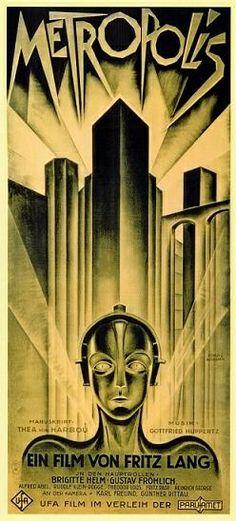Metropolis movie poster, a Fritz Lang film
