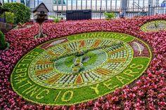 :: Floral clock in Princes Street Garden, Edinburgh, near to Edinburgh, Great Britain by Mike Pennington Floral Clock, Large Clock, Edinburgh Scotland, Dundee, Large Homes, Capital City, Beautiful Gardens, Floral Arrangements, City Photo