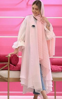 Hijab Fashion Summer, Muslim Fashion, Modest Fashion, Classy Outfits, Stylish Outfits, Girl Outfits, Fashion Outfits, Bread Cones, Blue Mermaid Prom Dress