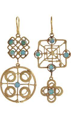 Judy Geib Opal Wheel Earrings
