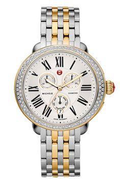 MICHELE 'Serein' Two Tone Customizable Watch | Nordstrom    SANTA?