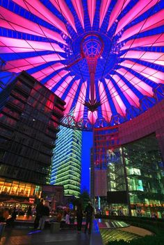 Photo: This shot was taken at Potsdamer platz. I did not have a tripod so was forced to use a dirt bin to steady the camera