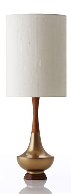 1 SOFA 3 WAYS: Electra table lamp in bone raw silk gold. Shop now at www.hardtofind.com.au
