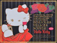 Hello Kitty Beaujolais Nouveau 2012 Par Avion Label