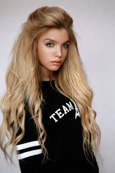voluminous and slightly wavy long hair
