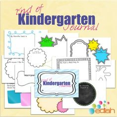 This little journal will make a great end of the year gift to my student's parents. This book includes a full color cover and 11 pages of fun facts for your kindergarten class to fill out. #edlah