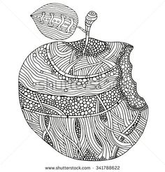 stock-vector-bitten-apple-on-white-background-hand-drawn-doodle-vector-zentangle-tribal-design-element-341788622.jpg (450×470)