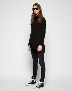 So cool! Love the turtle neck and the zippers in the sides! Langer Rollkragenpullover 'NM Milo'