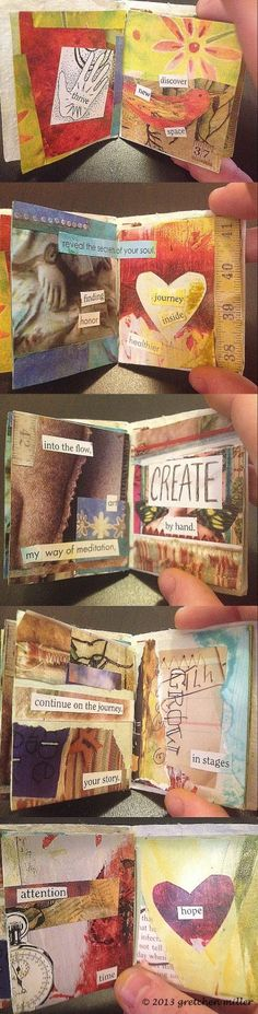 Simplicity....Inside These Pages: Miniature Book with Big Reminders   creativity in motion