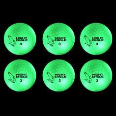 #NightEagle #LightUp #LED #Golfbälle von #PremierGlow #Nightsports. Vom #GolfDigest als eines der besten neuen Produkte der #PGA Merchandise Show 2016 ausgezeichnet. Maximaler #Gaudifaktor beim #Nachtgolfen, bzw. #Golfen bei schlechter Sicht. Ideal für´s #golfen bei schlechter Sicht. Zeitlich unbegrenzte Aktivierung durch Handylicht. 6er Pack in Farben grün. #golf #golfball #golfing #golfer #golfporn #golfgeschenk #geschenkidee #pgatour #lpga #brightgolfball
