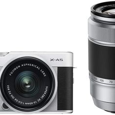 Immediately giving you the right equipment for almost any shoot, this black FUJIFILM X-A5 Mirrorless Camera with 15-45mm & 50-230mm Lens Kit from B&H combines the portability of the small yet powerful X-A5 camera with the creative range provided by the Fujinon XC 15-45mm f/3.5-5.6 OIS PZ and FUJIFILM XC 50-230mm f/4.5-6.7 OIS II lenses. Color Plata, A5, Fujifilm, Lenses, Range, Creative, Black, Productivity, Products