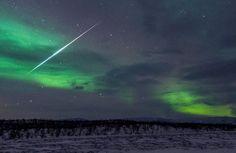 Meteoro registrado na Suécia por David Williams